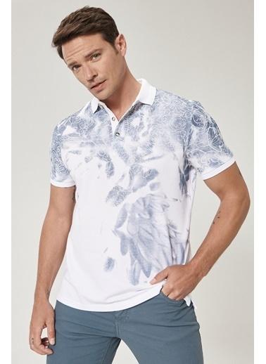 Beymen Business 4B4820200023 Slim Fit Tişört Baskılı Beyaz